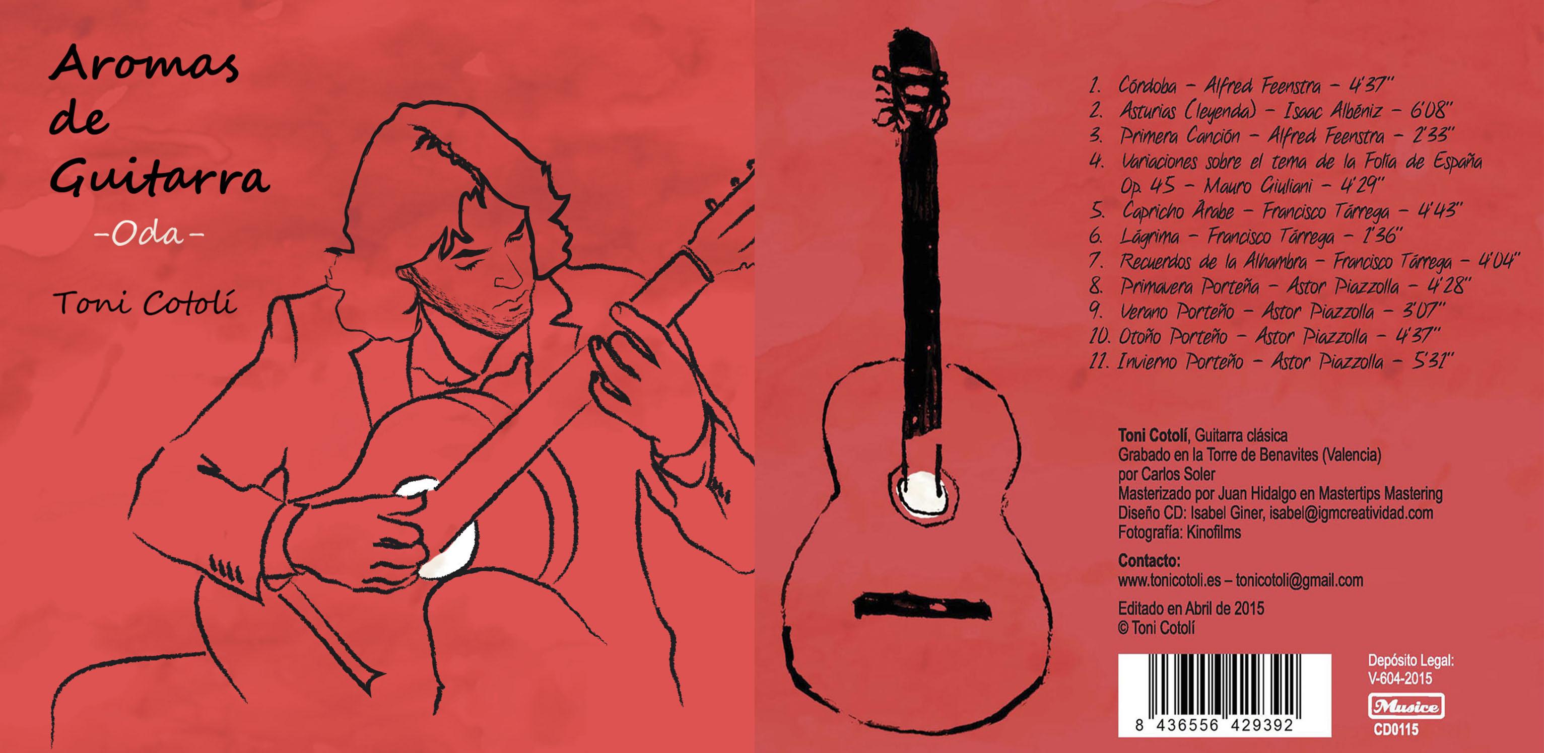 El nuevo disco de Toni Cotolí se suma al proyecto solidario 'Aromas de Guitarra'