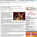 LEVANTE – El nuevo disco del valenciano Toni Cotolí se suma al proyecto solidario 'Aromas de Guitarra' – 6/05/2015