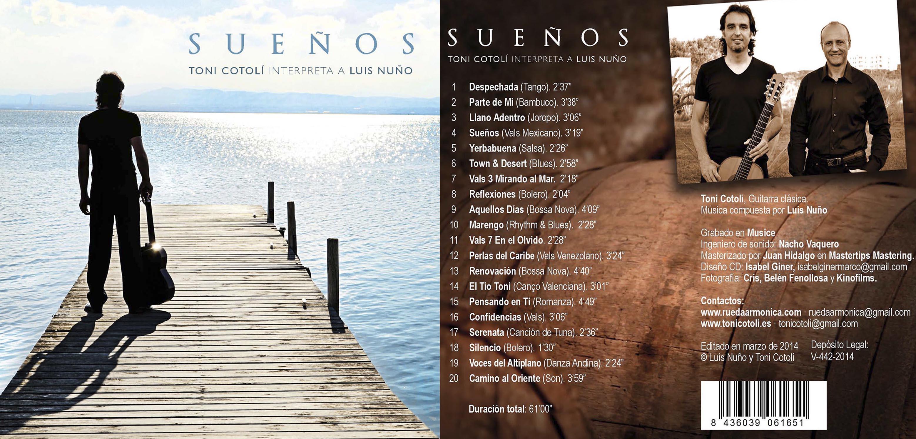 El guitarrista Toni Cotolí sorprende con un nuevo CD del compositor Luis Nuño