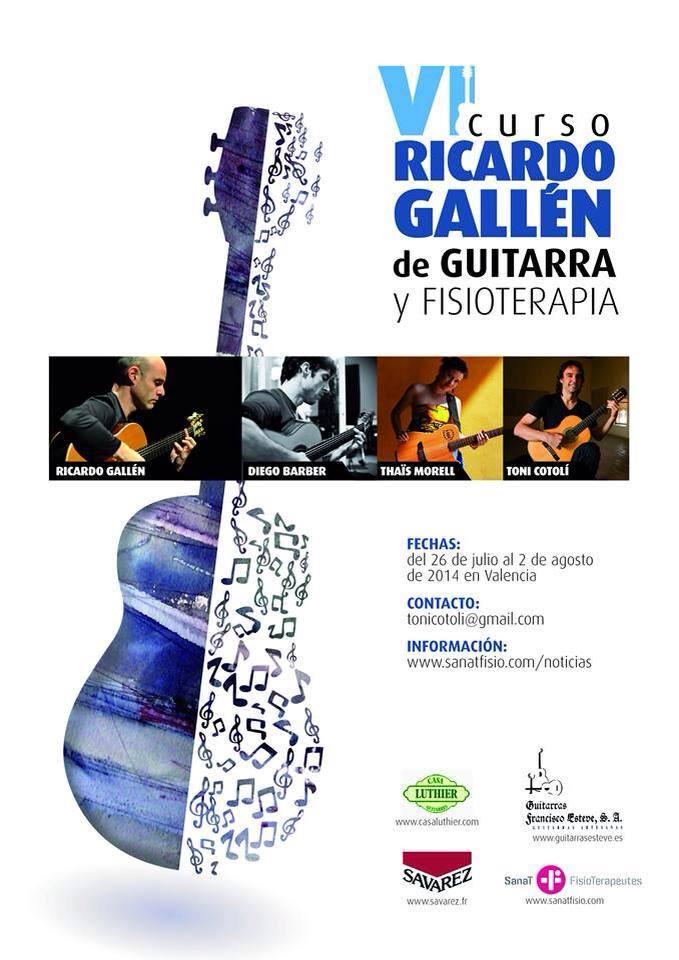 CARTEL VI CURSO RICARDO GALLEN 2014