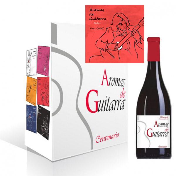 "Sorteo de 3 packs de vino Centenario Monastrell + CD de ""Aromas de Guitarra - Oda"""