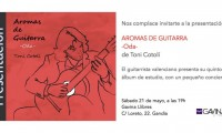 """Presentación """"Aromas de Guitarra – Oda"""" en Gavina Llibres de Gandia"""