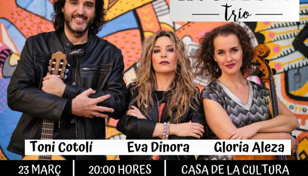 Concierto Rock Road Trío en la Casa de la Cultura de Serra