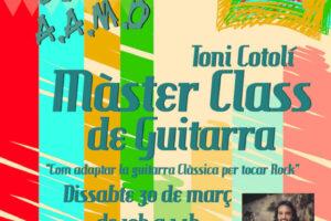 Master class de Guitarra a L'Escola de Música d'Oliva. Docent Toni Cotolí
