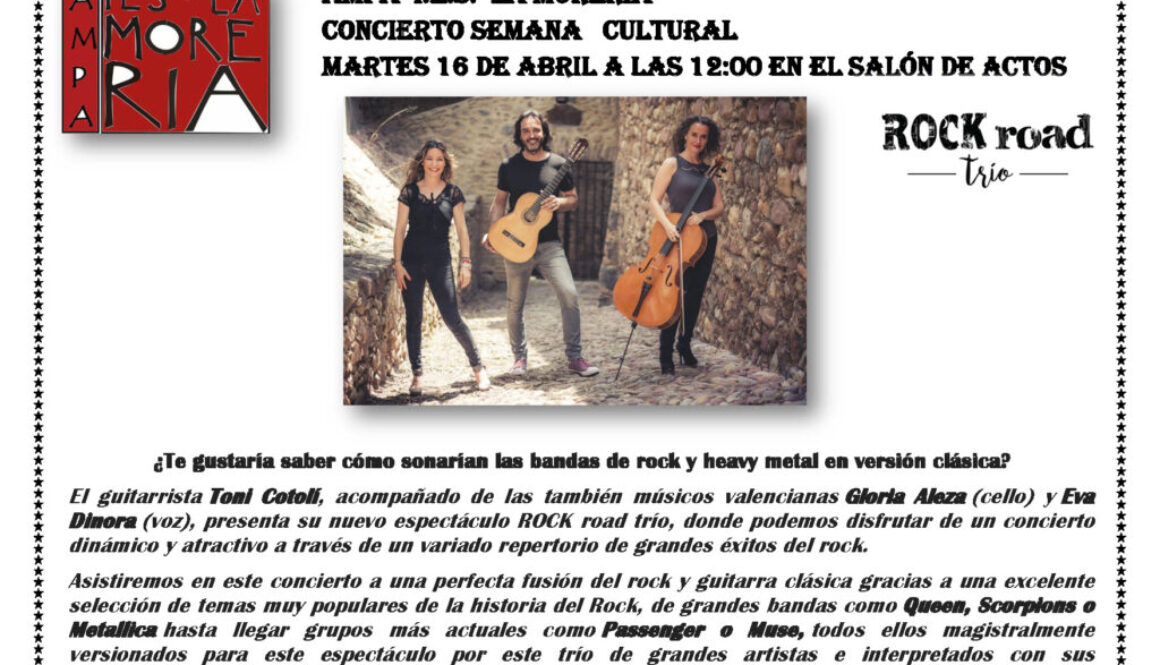 CARTEL ROCK road TRIO IES MISLATA 16 ABRIL